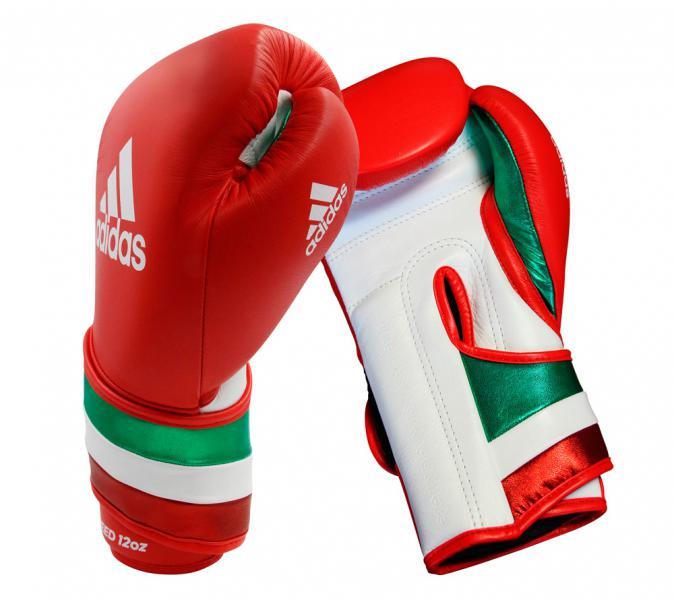 Перчатки боксерские AdiSpeed красно-бело-зеленые, 14 унций Adidas