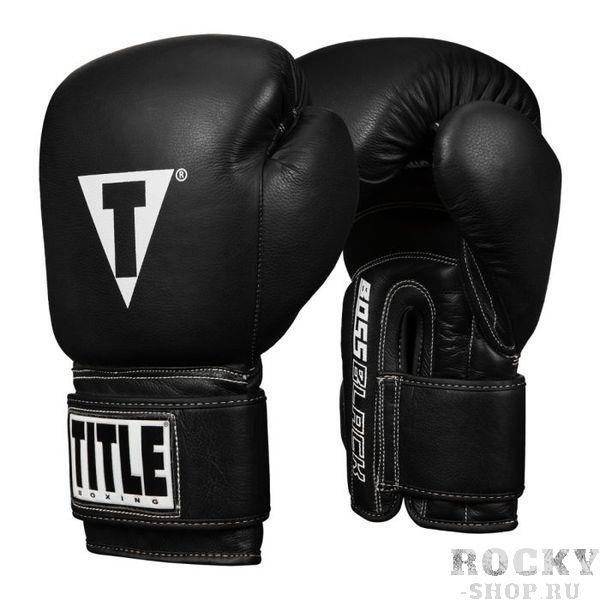 Боксерские перчатки Title Boss Black Leather, 12 OZ TITLE фото