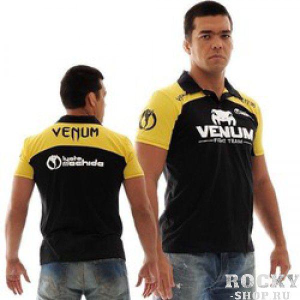 Поло Venum Lyoto Machida UFC Edition - Black/Yellow VenumФутболки / Майки / Поло<br>Создавая это поло были продуманы все детали. Вышитые логотипы Venum. Удобная и комфортная футболка. - высококачественная вышивка- ультра комфортная модель&amp;nbsp;- производство Бразилия- состав 100% хлопок<br><br>Размер INT: S