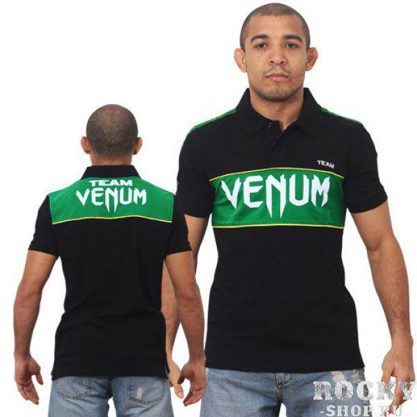 Купить Поло VENUM TEAM - BLACK/GREEN Venum (арт. 3306)