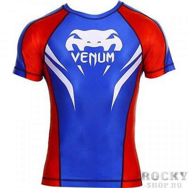 Купить Рашгард Venum Electron 2.0 Rashguard -Blue S/S (арт. 3336)