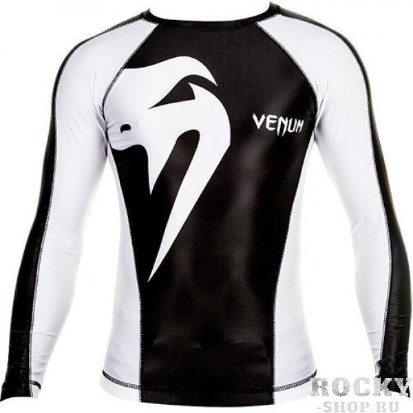 Рашгард Venum «Giant» Rashguard - Black/Ice - Long Sleeves