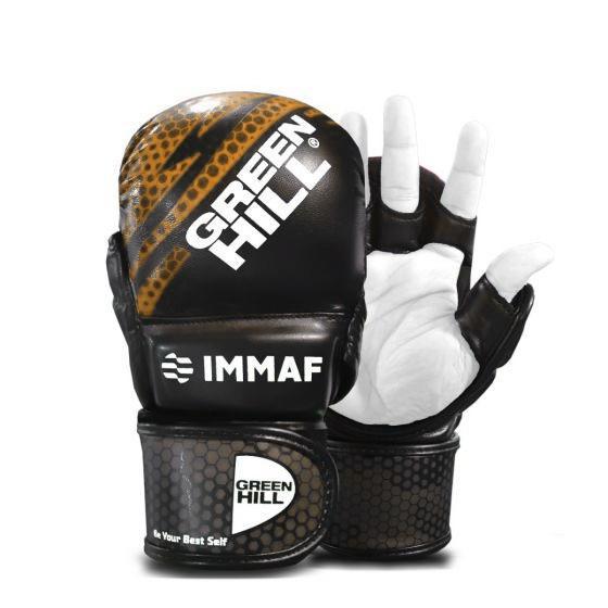 Перчатки MMA Green Hill IMMAF черно-золотистые Green Hill фото