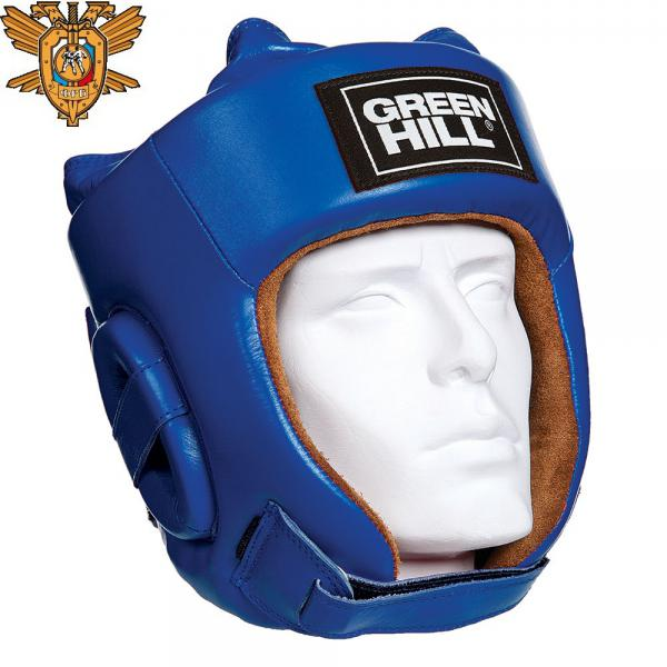 Шлем для рукопашного боя FIVE STAR, одобренный Федерацией Рукопашного боя РФ, синий Green Hill фото