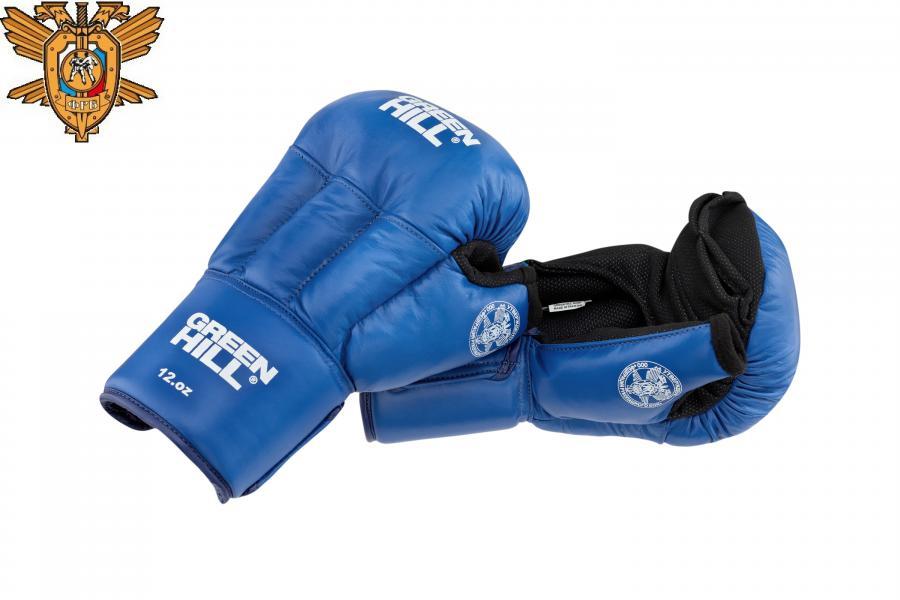 Перчатки для рукопашного боя, одобренные Федерацией Рукопашного боя РФ, синие Green Hill фото
