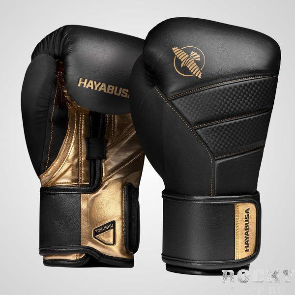 Перчатки Hayabusa T3 Black/Gold, 16 oz Hayabusa
