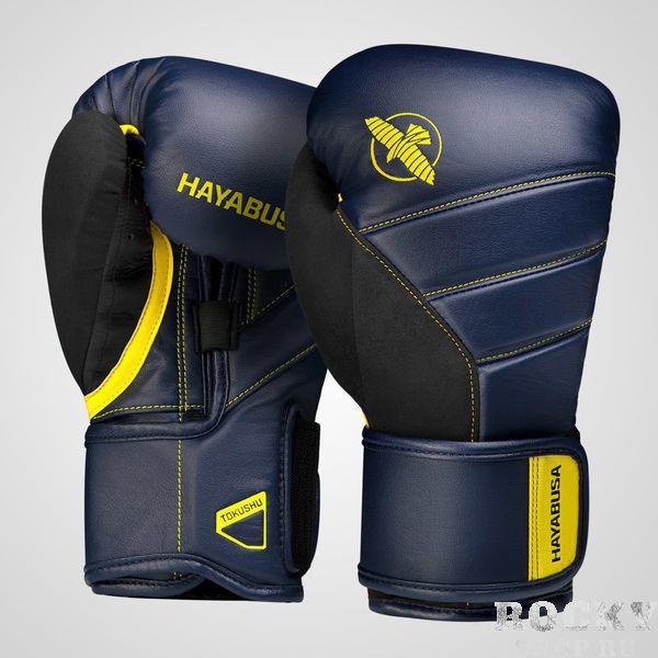 Перчатки Hayabusa T3 Navy/Yellow, 12 oz Hayabusa фото
