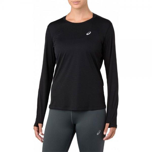 Рубашка беговая женская Asics 2012a031 001 silver ls top (арт. 33552)  - купить со скидкой