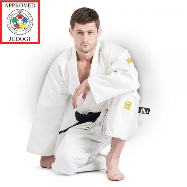 Кимоно дзюдо Green Hill Gold IJF APPROVED, белое Green Hill