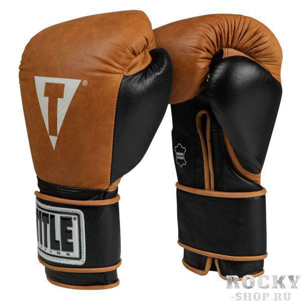 Боксерские перчатки Title Vintage Leather Training Gloves, 12 OZ TITLE