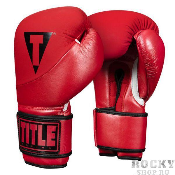 Боксерские перчатки TITLE Cyclone Leather Metallic Red, 16 OZ TITLE фото
