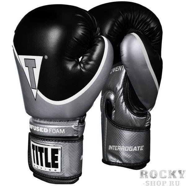 Боксерские перчатки Title Infused Foam 2.0 Black/Silver, 14 OZ TITLE