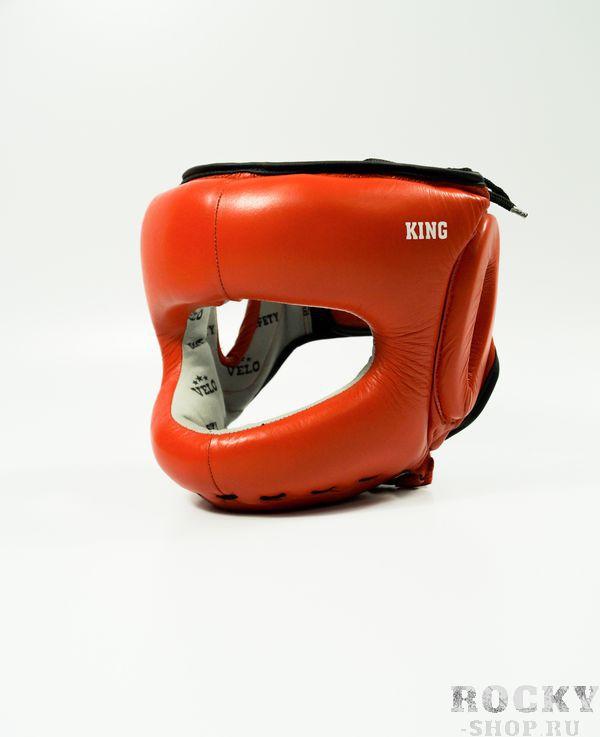 Шлем боксерский с бампером Velo King Full-Face Red  Velo