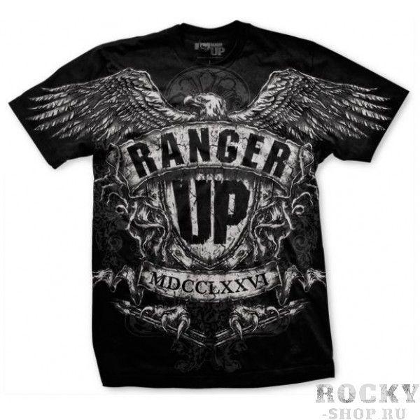 Футболка Ranger Up War Eagle Athletic Fit T-Shirt Ranger UpФутболки / Майки / Поло<br>ММА футболка с изображением орла, держащего стрелы в лапах, что символизирует готовность всегда вступить в схватку. Сделана из более дорогой ткани, чем остальные футболки Ranger Up. Имеет более облегающую и спортивную посадку.<br><br>Размер INT: S
