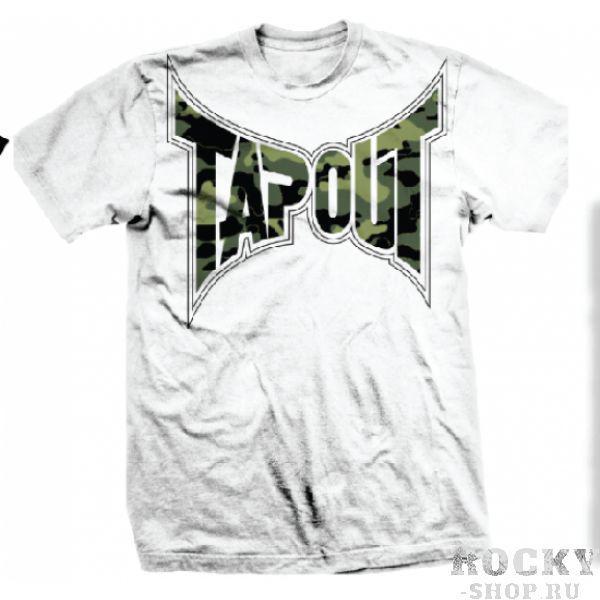 Футболка Tapout Sniper Mens T-Shirt White TapoutФутболки<br>Футболка известного американского бренда Tapout со стильным принтом. Высококачественная печать спереди и на спине. Материал - 100% хлопок. Производство: США.<br><br>Размер INT: XL