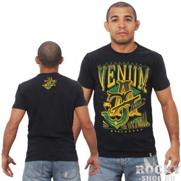 Футболка Venum Jose Aldo Vitoria T-shirt - Black/Green  VenumФутболки<br>ФуболкаVENUM это новое поколение футболок от Venum. Прекрасное качество. Посвящена чемпиону UFC В легком весе Жозе АльдоТехнические характеристики:- 100% высококачественный хлопок- Высокое качество шелкографии- Спортивная подгонка- Сделано в Бразилии.<br><br>Размер INT: L
