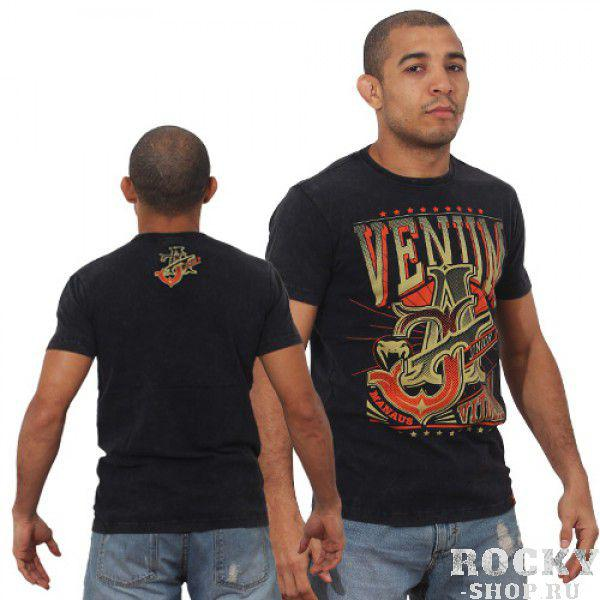 Футболка Venum Jose Aldo Vitoria T-shirt - Black/Orange  VenumФутболки<br>ФуболкаVENUM это новое поколение футболок от Venum. Прекрасное качество. Посвящена чемпиону UFC В легком весе Жозе АльдоТехнические характеристики:- 100% высококачественный хлопок- Высокое качество шелкографии- Спортивная подгонка- Сделано в Бразилии.<br><br>Размер INT: S