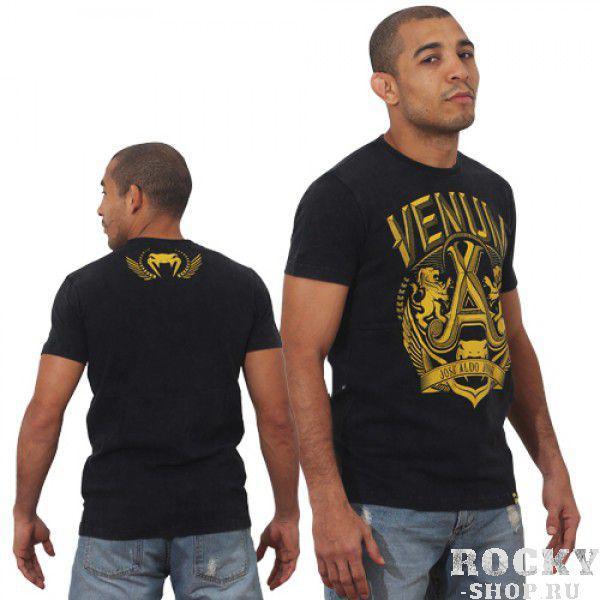 Футболка Venum Jose Aldo Vitoria T-shirt - Black/Yellow  VenumФутболки<br>ФуболкаVENUM это новое поколение футболок от Venum. Прекрасное качество. Посвящена чемпиону UFC В легком весе Жозе АльдоТехнические характеристики:- 100% высококачественный хлопок- Высокое качество шелкографии- Спортивная подгонка- Сделано в Бразилии.<br><br>Размер INT: XXL