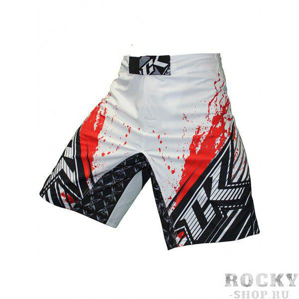 Купить Шорты ММА Contract Killer Stained S2 Shorts - White/Red (арт. 3458)