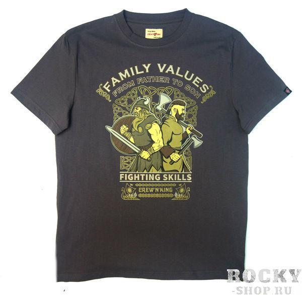 Футболка CrewandKing Family Values Grey CrewandKing