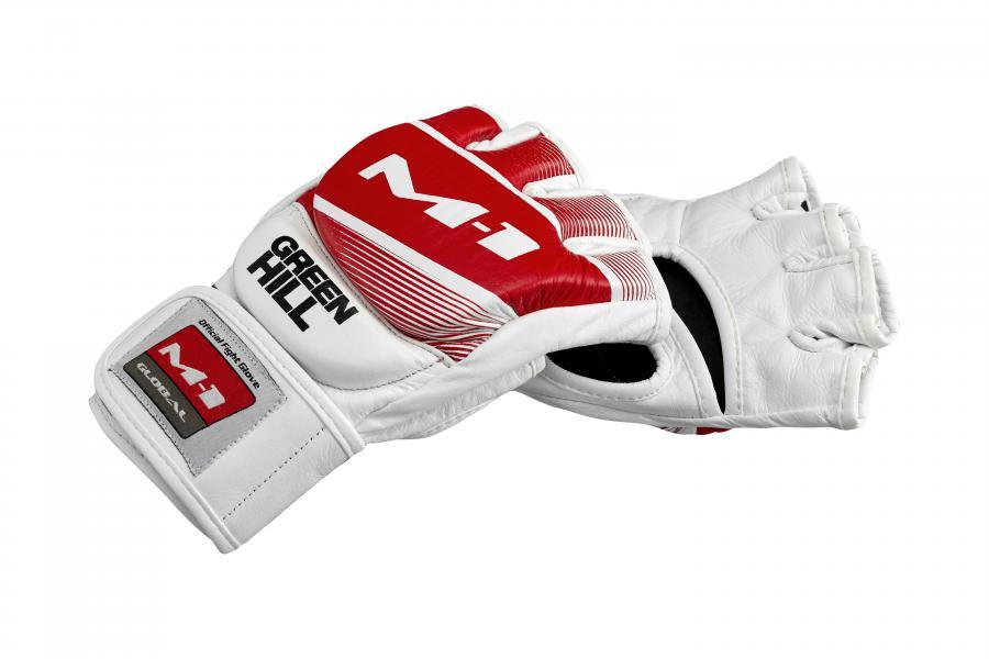Официальные матчевые перчатки Greenhill M-1 красно-белые Green Hill