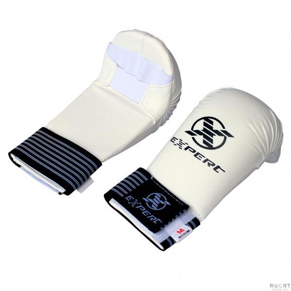 Защита кисти (накладки) для каратэ WKF EXPERT, белые Flamma