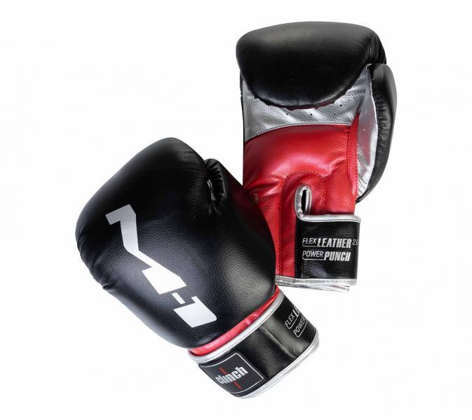 Перчатки боксерские Clinch M1 черно-красно-серебристые, 12 унций Clinch Gear
