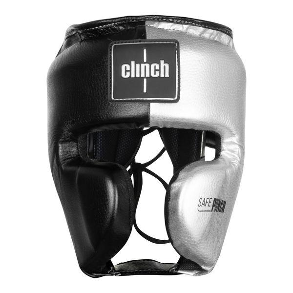 Шлем боксерский Clinch Punch 2.0 черно-серебристый Clinch Gear