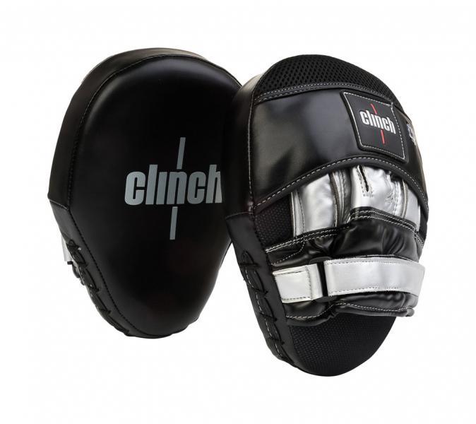 Лапы Clinch Focus Mitt Curve черно-серебристые Clinch Gear