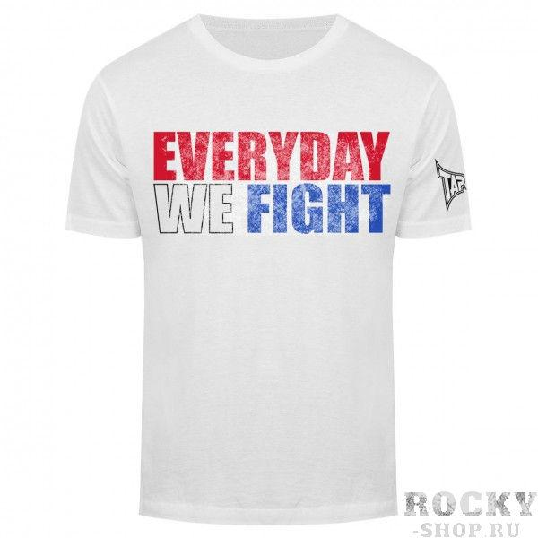 Футболка Tapout Everyday We Fight Mens T-Shirt White TapoutФутболки<br>Новинка от Tapout. 100% хлопок<br><br>Размер INT: XL