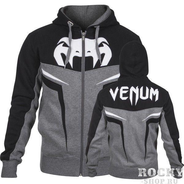 Купить Толстовка Venum VENUM SHOCKWAVE 3.0 HOODY - GREY/BLACK (арт. 3527)