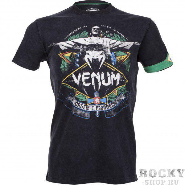 Купить Футболка VENUM RIO SPIRIT T-SHIRT - BLACK Venum (арт. 3531)
