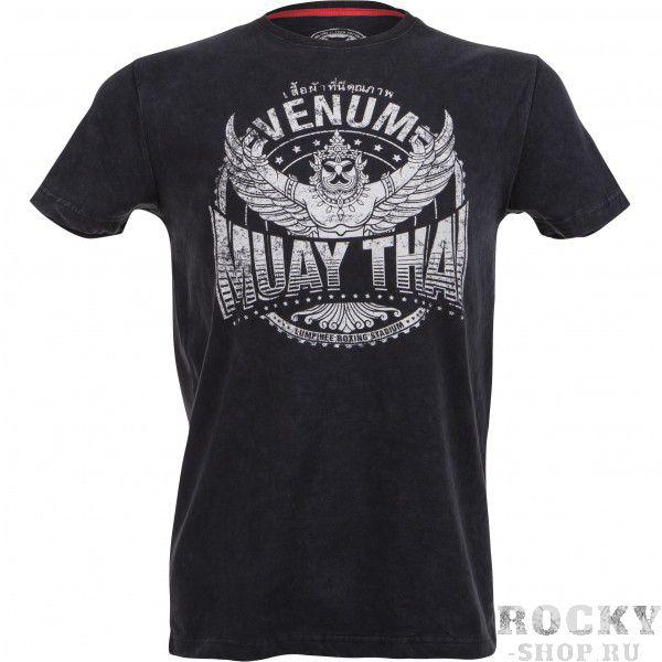 Футболка Venum Muay Thai Garuda T-shirt - Black  VenumФутболки<br>Гаруда - Государственный герб Таиланда. В индуистской и буддийской мифологии это ездовая птица бога Вишну. Ее роль, как помощника божества - удваивать его мощь!Может быть эта футболка и не увеличит вашу силу, но плюс к стилю даст точно. Характеристики:100% хлопок премиум-классавысококачественная шелкографияочень комфортная<br><br>Размер INT: XL