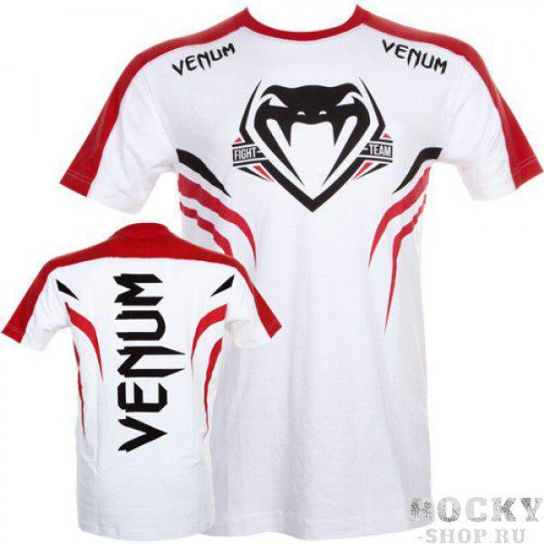 Футболка Venum Shockwave 2 T-shirt - White/Red VenumФутболки / Майки / Поло<br><br>