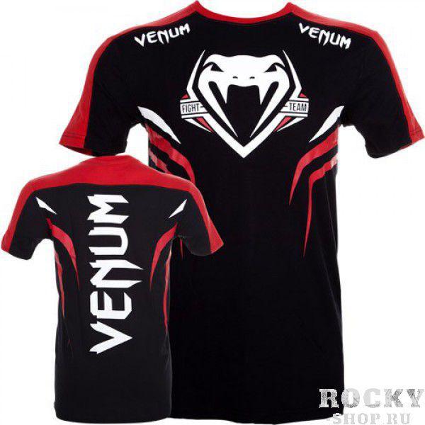 Футболка Venum Shockwave 2 T-shirt - Black/Red VenumФутболки / Майки / Поло<br>Эта футболка будет новым стандартом качества для бойцов UFC!Характеристики:100% хлопок высокого качестваОчень комфортабельнаяВысокое качество принтов<br>