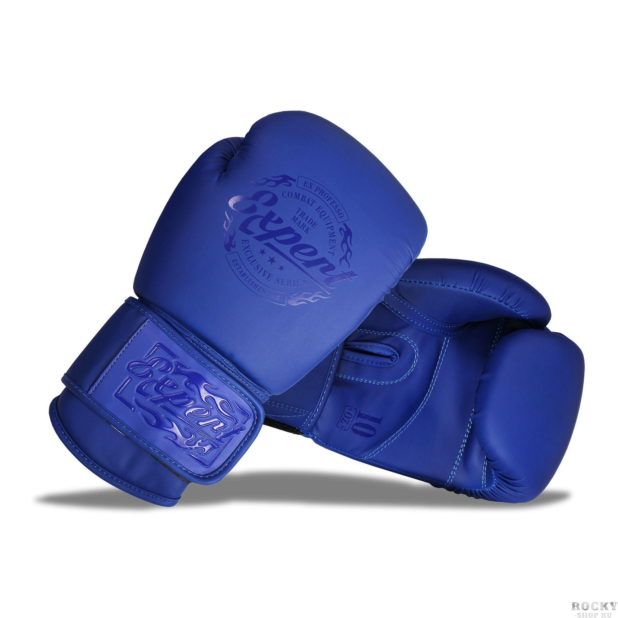 Боксерские перчатки Fight Expert Matte Blue, 12 OZ Flamma