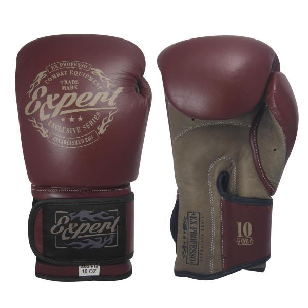 Перчатки боксерские Fight Expert Vintage на липучке, кожа, 12 OZ Flamma