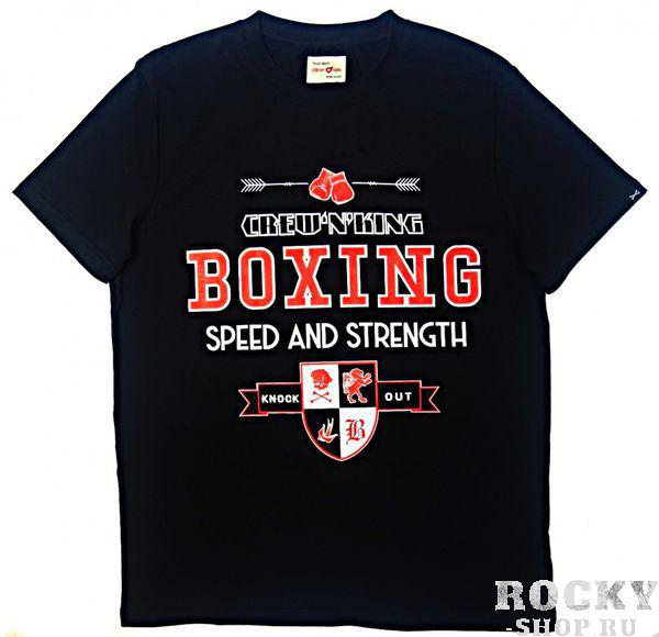 Футболка Crew&King Boxing Speed And Strength Black CrewandKing