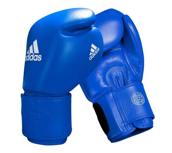 Перчатки боксерские Muay Thai Gloves 300 сине-белые, 14 унций Adidas