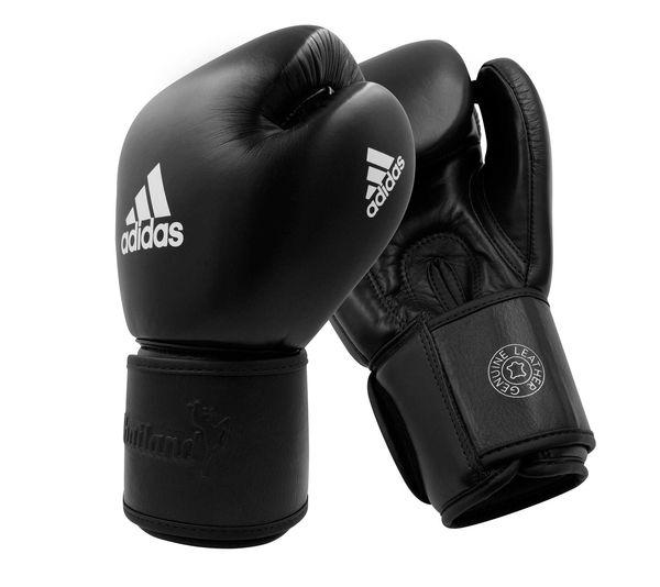 Перчатки боксерские Muay Thai Gloves 200 черно-белые, 14 унций Adidas