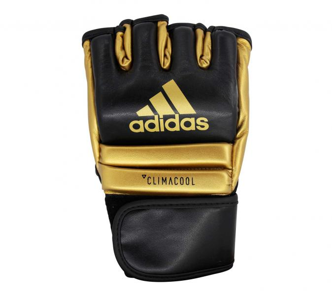Перчатки для смешанных единоборств Speed Grappling черно-золотые Adidas