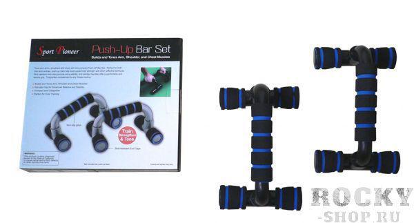Купить Упоры для отжиманий Sport Pioneer пластик черно-синий (арт. 3590)