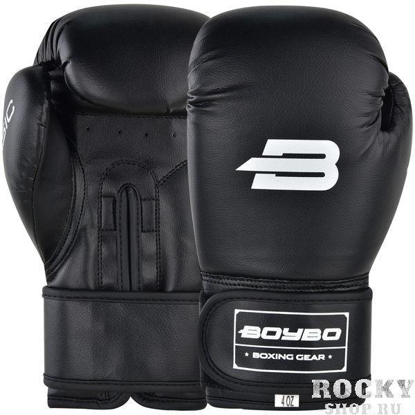 Детские боксерские перчатки BoyBo Basic Black, 4 OZ Boybo
