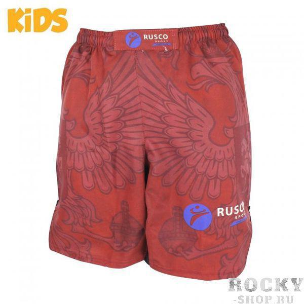 Детские шорты ММА Rusco Sport RED HERB Rusco