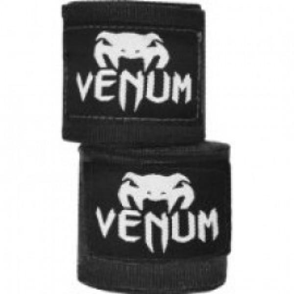 Бинты боксерские Venum Kontact, 2,5 метра, 2,5 метра VenumБоксерские бинты<br>Для профессиональной подготовки и большей выносливости - это обязательная защита для ваших рук. - 100% хлопок- Размер: 2,5 мЦвет: черный<br>