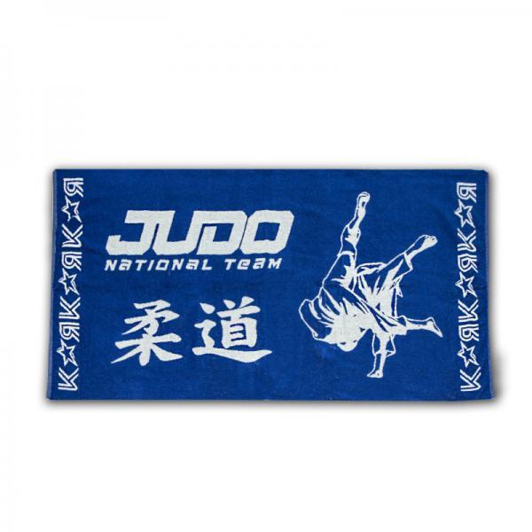 Полотенце дзюдо J1 JUDO national team синее Крепыш Я