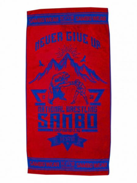 Полотенце Самбо S3 National Wrestling красно-синий Крепыш Я