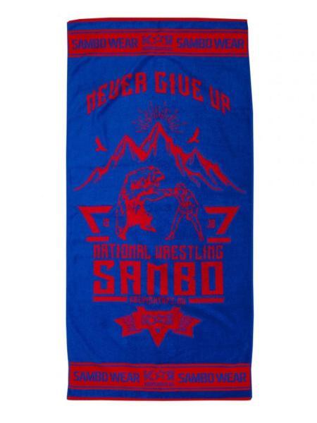 Полотенце Самбо S3 National Wrestling сине-красное Крепыш Я