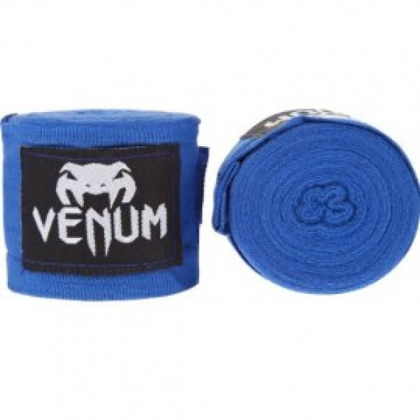 Бинты боксерские Venum Kontact Boxing Handwraps 2,5 m - Blue VenumБоксерские бинты<br>Для профессиональной подготовки и большей выносливости - это обязательная защита для ваших рук. - 100% хлопок- Размер: 2,5 мЦвет: синий<br>