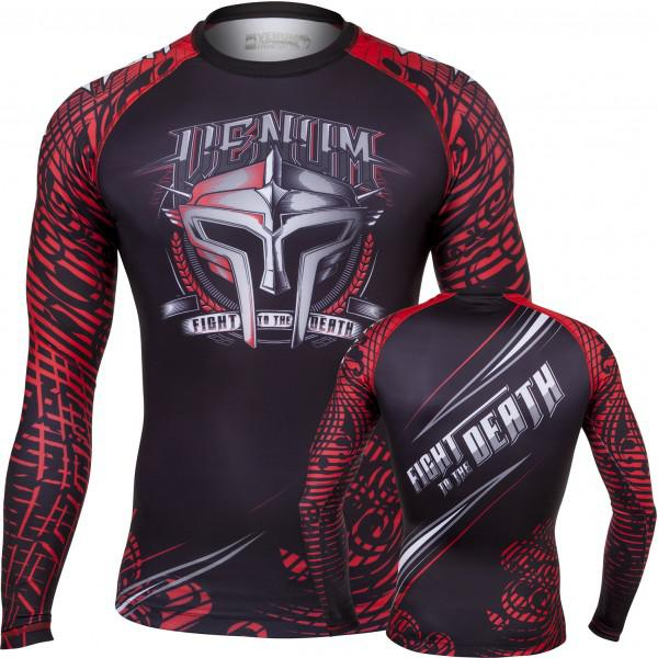 Купить Рашгард Venum Gladiator Rashguard - Black/Red Long Sleeves (арт. 3628)